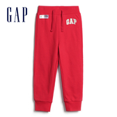 Gap男幼簡約純色鬆緊腰休閒褲567940-正紅色