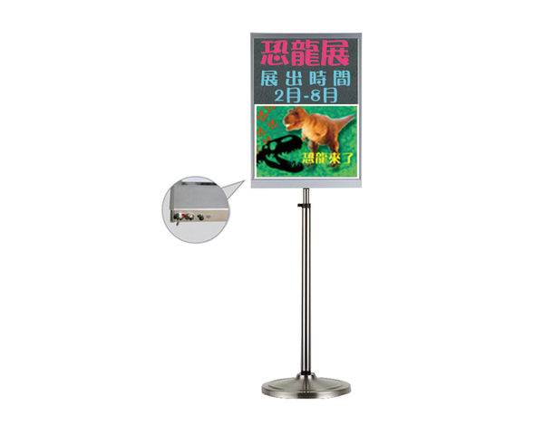 LED發光手寫/海報2合一告示牌A4:24×30cm) LED 看板 招牌 贈專用擦擦筆+板擦 LED看板