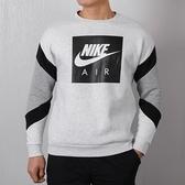 Nike 灰 黑air 英文logo 刷毛 大學T 衛衣 男 928636-051【SP】
