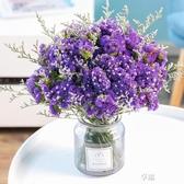 大束勿忘我干花天然真花擺件含帶花瓶小清新花束家居客廳擺設裝飾ATF