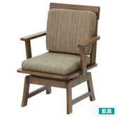 ◎和風天然木可旋轉式餐椅 TOKYO2 MBR 褐色 NITORI宜得利家居