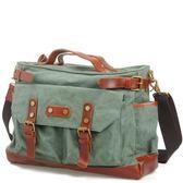 手提包-帆布戶外旅行大容量復古男側背包4色73nd10【巴黎精品】