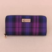 雨朵防水包 U324-3009 格紋長夾+袋-格紋紫紅01017