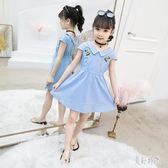 女童洋裝 Polo領連身裙 文藝繡花甜美清新好看的公主裙 zh6408『美好時光』