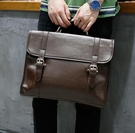 FINDSENSE Z1 韓國 時尚 潮 男 皮質 橫款 手提包 單肩包 公事包