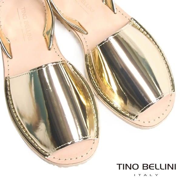 Tino Bellini 西班牙進口品味全真皮平底涼拖鞋(金)_A63044  2016SS歐洲進口款