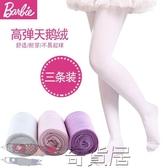 芭比兒童連褲襪春秋女童打底褲寶寶白色絲襪薄學生舞蹈襪女孩襪子