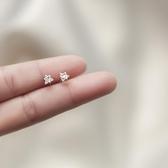 熱銷耳環銀致S925銀耳釘女設計感小眾簡約韓國氣質耳飾個性網紅耳環非純銀