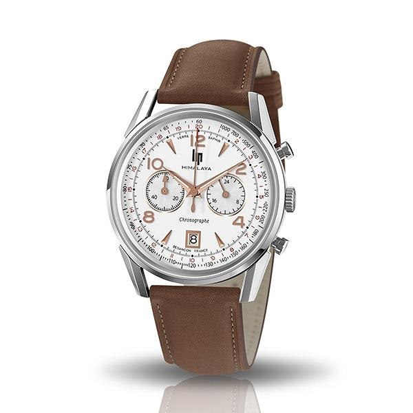 【lip】Himalaya極限挑戰真皮石英腕錶-咖啡棕/671594/台灣總代理公司貨享兩年保固