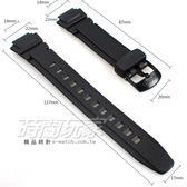 14mm 22mm錶帶 CASIO 橡膠錶帶 黑色 錶帶 AQ-180W適用 W-213適用 B14-AQ-180W