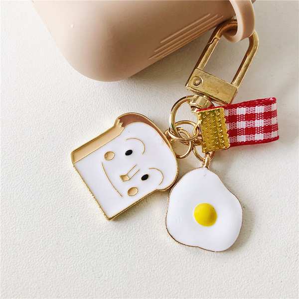 ? 即將到貨 新款 ? 獨家自制款 Airpods 藍芽耳機保護套 蘋果無線耳機保護套 雞蛋土司 奶茶色