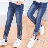 (萬聖節鉅惠)女童牛仔褲秋裝新品中大童春秋季13女孩12小學生兒童長褲15歲