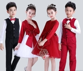 新款兒童大合唱團演出禮服中小學生男女蓬蓬裙主持人詩歌朗誦表演促銷好物