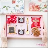 繁花英式午茶禮盒(附提袋) 生日禮物 情人節禮物 聖誕禮物 伴娘禮 婚禮禮物 交換禮物 喝茶回禮