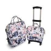 可拆卸子母箱拉桿箱旅行包拉桿包拉桿背包防水牛津布旅行箱拉桿女