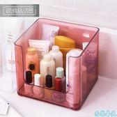 收納盒 新款簡約透明面膜化妝品收納盒 塑料桌面亞克力 家用整理盒護膚品置物架 巴黎春天