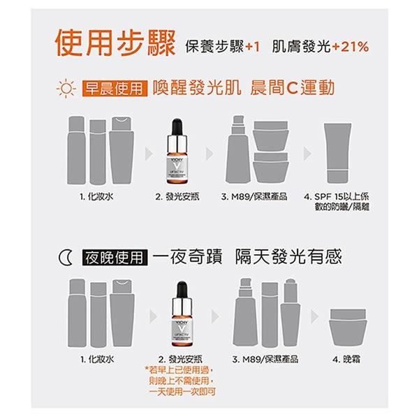 VICHY薇姿 15%維他命 C超導安瓶10ml 美白提亮獨家組(新品上市)(加碼贈M89 1.5ml六日份)