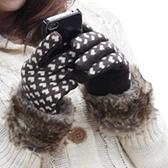 觸控羊毛女手套-可愛時尚愛心防寒保暖時尚配件2色72h29【巴黎精品】