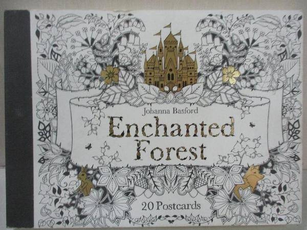 【書寶二手書T6/少年童書_AFG】Enchanted Forest Postcards: 20 Postcards_Johanna Basford