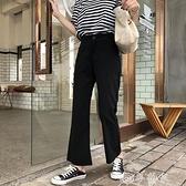 西裝褲 高腰百搭休閒微喇叭褲女2021年秋季新款闊腿褲垂感顯瘦九分西裝褲 夢藝