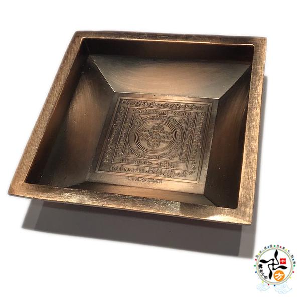 十字杵煙供爐9公分紅銅色 【 十方佛教文物】