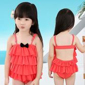泳衣新款可愛連體三角裙式兒童女大童游泳衣LJ3305『miss洛羽』