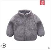 兒童羊羔絨外套新款秋冬洋氣男女夾克風衣中寶寶外穿保暖上衣外穿 後街五號