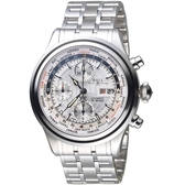 BALL波爾Trainmaster世界時間GMT計時機械錶  CM2052D-SJ-SL 銀白