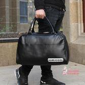 皮質手提包 健身包運動包啞光pu手提包旅行包行李袋皮質定做
