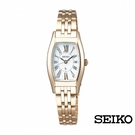 SEIKO 精工 太陽能酒桶型 女錶 V117-0EE0U (SUP442J1)香檳金