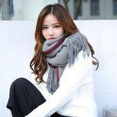 披肩保暖圍巾-秋冬純色鎖邊流蘇圍脖9色73pp267[時尚巴黎]