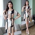 洋裝 韓版流行復古高端a字連身裙 618降價