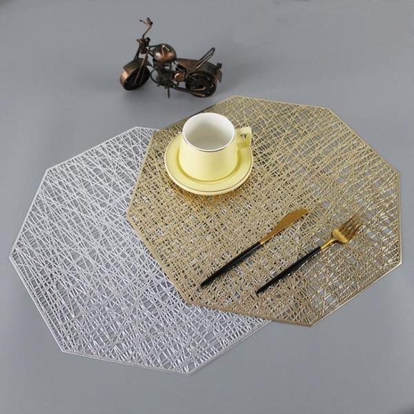 隔熱墊 餐墊隔熱墊餐桌墊防燙北歐創意金色大理石裝飾墊家用防滑墊【快速出貨國慶八折】