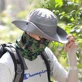 帽子男涼帽遮陽帽男夏季漁夫帽太陽帽草帽工作帽旅游護頸防紫外線