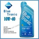 【愛車族】亞拉ARAL BLUE TRONIC SAE 10W-40 合成機油