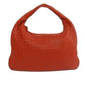 【BV/ BOTTEGA VENETA】編織小羊皮 HOBO肩背包45CM(威尼斯紅) BV11000050