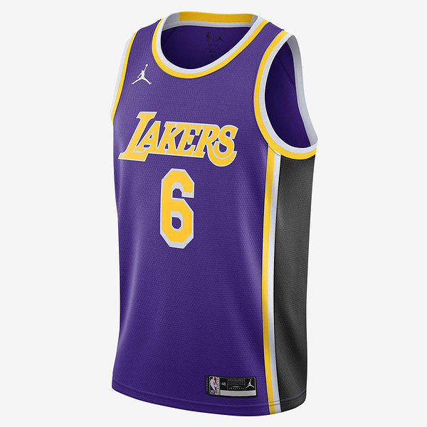 NIKE Los Angeles Lakers Statement Edition 2020 男裝 球衣 籃球 湖人隊 針織 網布 紫【運動世界】CV9481-513