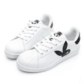 PLAYBOY 簡約格調 兔頭休閒貝殼鞋-白黑(Y6226)