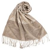 DAKS 復古歐洲圖騰設計流蘇披肩圍巾(米色)239335-1