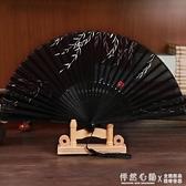 拂柳古風扇子摺扇女式復古典真絲綢舞蹈扇和風日用扇怦然心動