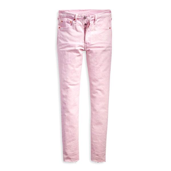 牛仔褲 高腰 /  501® Skinny合身窄管 / 排扣不收邊 / 彈性布料 - Levis