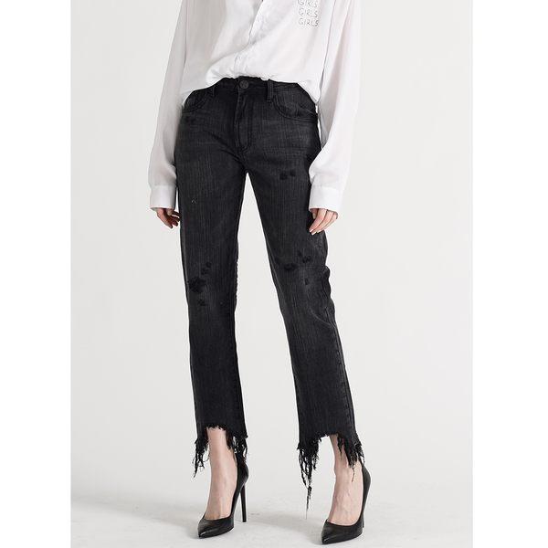 OneTeaspoon 牛仔褲- AWESOME BAGGIES LEOPARD AWESOME BAGGIES STRAIGHT LEG JEAN-黑(女)