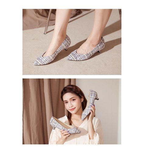 【ORiental TRaffic】百搭V口尖楦中跟鞋-優雅米