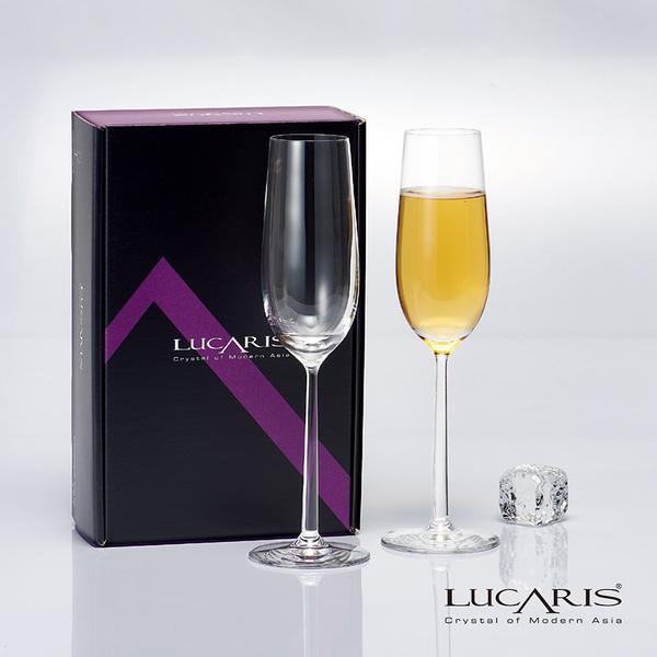 泰國LUCARIS 上海無鉛水晶香檳酒杯-2入組 水晶杯 無鉛玻璃杯 品酒必備 精美禮盒 聚會 好生活