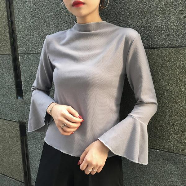 (全館免運) - 喇叭袖口顯瘦上衣(YT-0707)