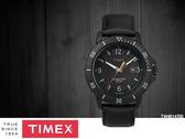 【時間道 】TIMEX天美時 遠征系列太陽能腕錶/黑面橘秒黑皮帶(TW4B14700)免運費