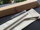台灣QC 日本鋼材-食品級SUS304不鏽鋼吸管/環保吸管-C直C彎組合系列
