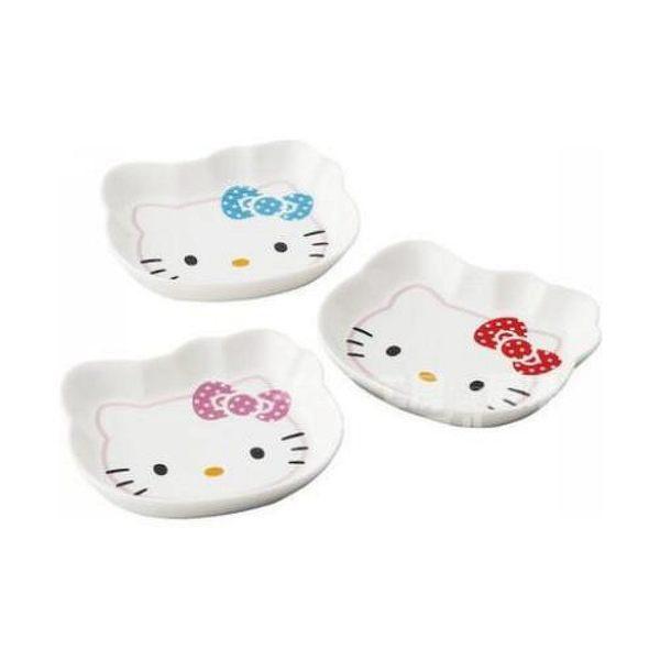 【震撼精品百貨】Hello Kitty 凱蒂貓~HELLO KITTY 陶瓷盤組(頭型3入)