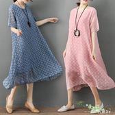 洋裝 2018新款加大碼女裝胖MM夏裝短袖中長款寬鬆時尚顯瘦200斤 DN14531『科炫3C』