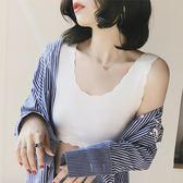背心 無痕薄短款女抹胸式背心裹胸夏季緊身純色半截內衣防走光打底圍胸 【限時88折】